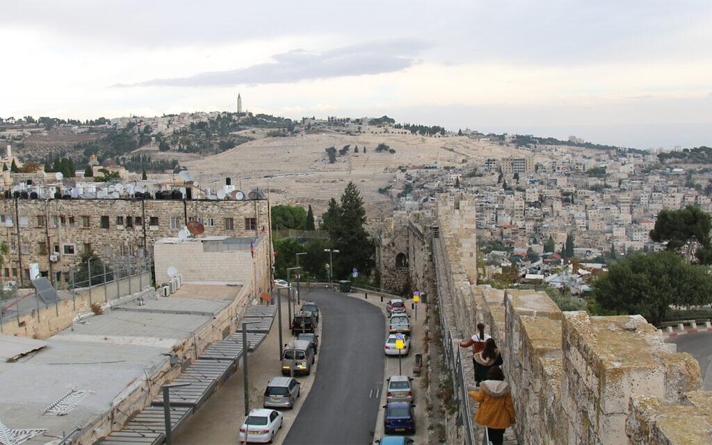 The end of Jerusalem's ramparts walk, near the Old City's Zion Gate. (Shmuel Bar-Am)