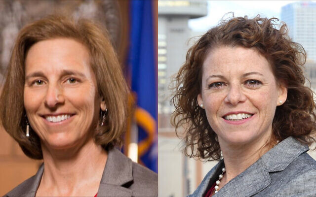 Jill Karofsky, left, and Rebecca Dallet are concerned for their safety and have been in touch with law enforcement, according to a campaign consultant for the justices. (Courtesy of Karofsky and Dallet)