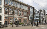 The Amsterdam building that used to house the Reform seminary and children's detainment facility where Betty Goudsmit-Oudkerk helped saved hundreds of Jewish children. (Luuk Kramer/Courtesy of the Jewish Cultural Quarter of Amsterdam via JTA)