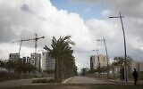 View of new home being built in the southern Israeli town of Netivot, Janury 21, 2017. (Nati Shohat/Flash90)