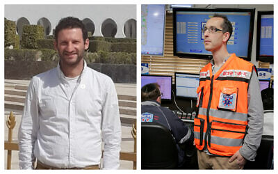 Times of Israel former diplomatic correspondent Raphael Ahren, left, and current science and health reporter Nathan Jeffay, right. (Courtesy)