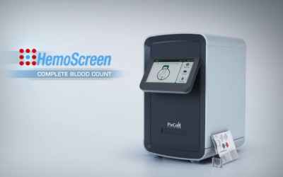 The HemoScreen blood test analyzer device developed by PixCell Medical (Courtesy)