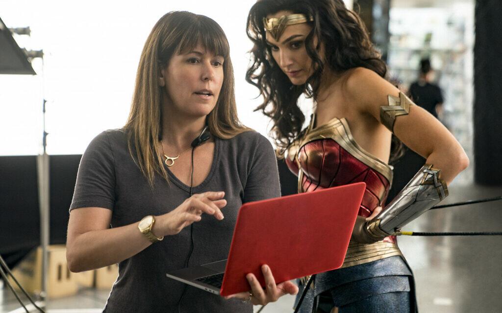 'Wonder Woman 84' director Patty Jenkins, left, and Gal Gadot on set. (Courtesy Warner Bros. Films)