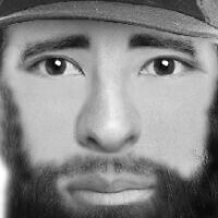 A police sketch of a suspect in the January 2019 killing of Yehuda and Tamar Kaduri (Israel Police)