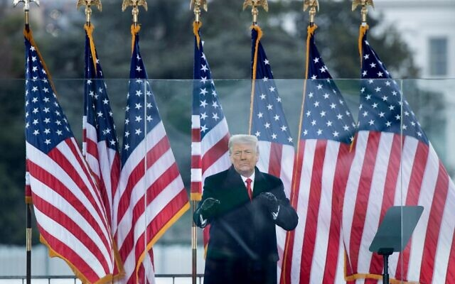 US President Donald Trump speaks to supporters from The Ellipse near the White House on January 6, 2021, in Washington, DC (Brendan Smialowski / AFP)