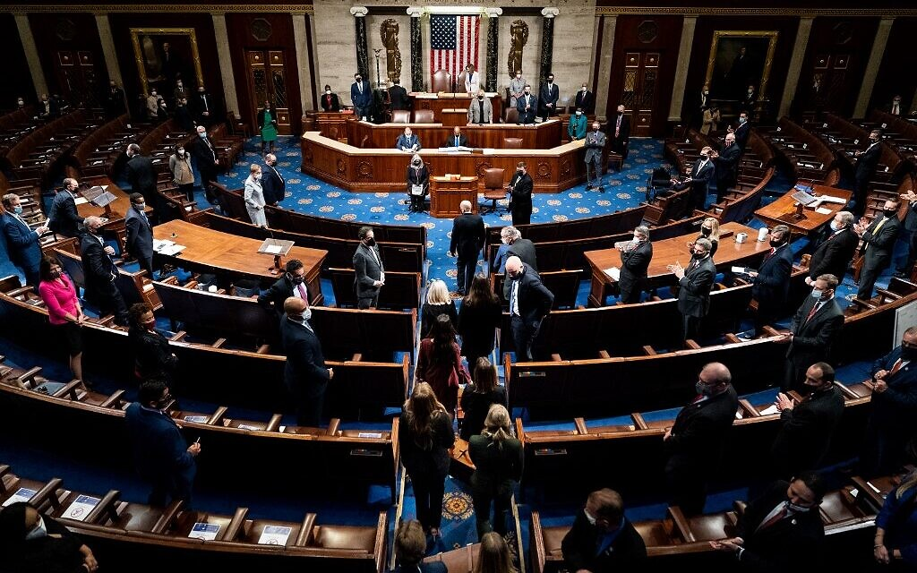 Congress certifies Biden win, hours after process interrupted by deadly  chaos | The Times of Israel