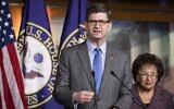 Representative Brad Schneider, Democrat-Ilinois, in Washington DC on January 28, 2020. (Samuel Corum/ GETTY IMAGES NORTH AMERICA / AFP)