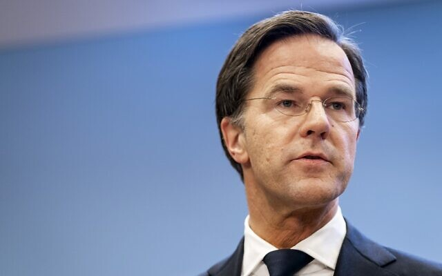 Dutch Prime Minister Mark Rutte gives a press conference about COVID-19 measures in The Netherlands, in The Hague, on January 12, 2021. (Bart Maat / ANP / AFP)