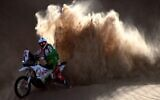 Illustrative: France's rider Pierre Cherpin, 52, competes during the Stage 2 of the Dakar 2021, on January 4, 2021. (FRANCK FIFE / AFP)
