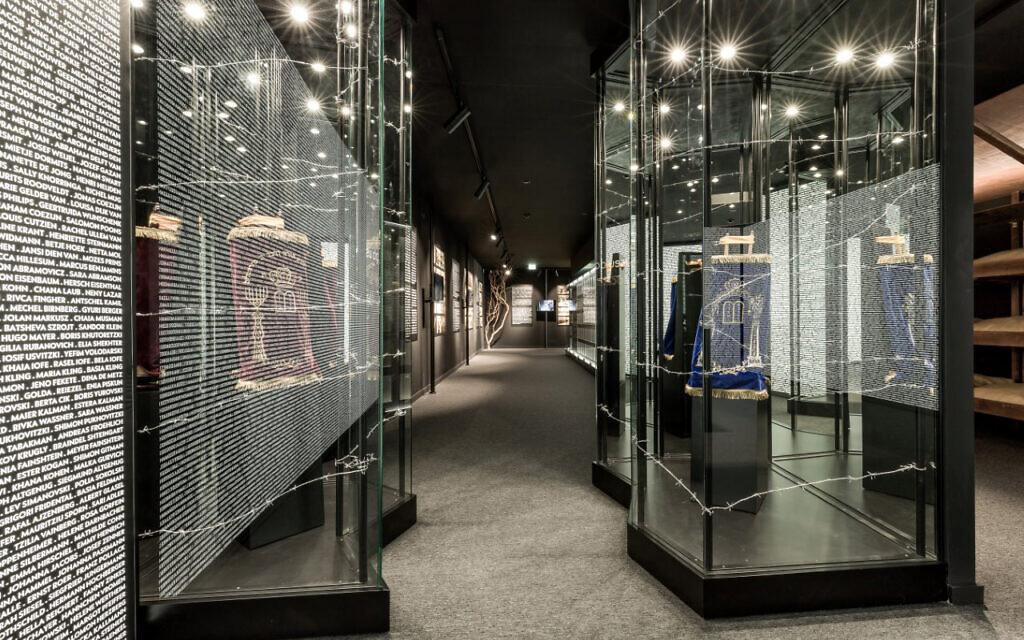 The interior of the Holocaust Museum of Porto, January 2021. (Courtesy of the Jewish Community of Porto/ via JTA)