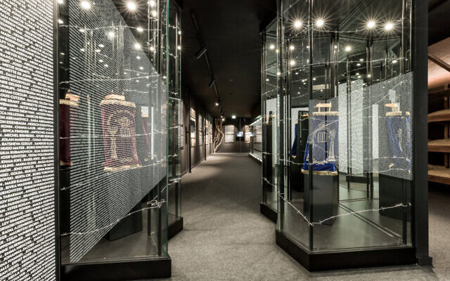 The interior of the Holocaust Museum of Porto, January 2021. (Courtesy of the Jewish Community of Porto/ via JTA)