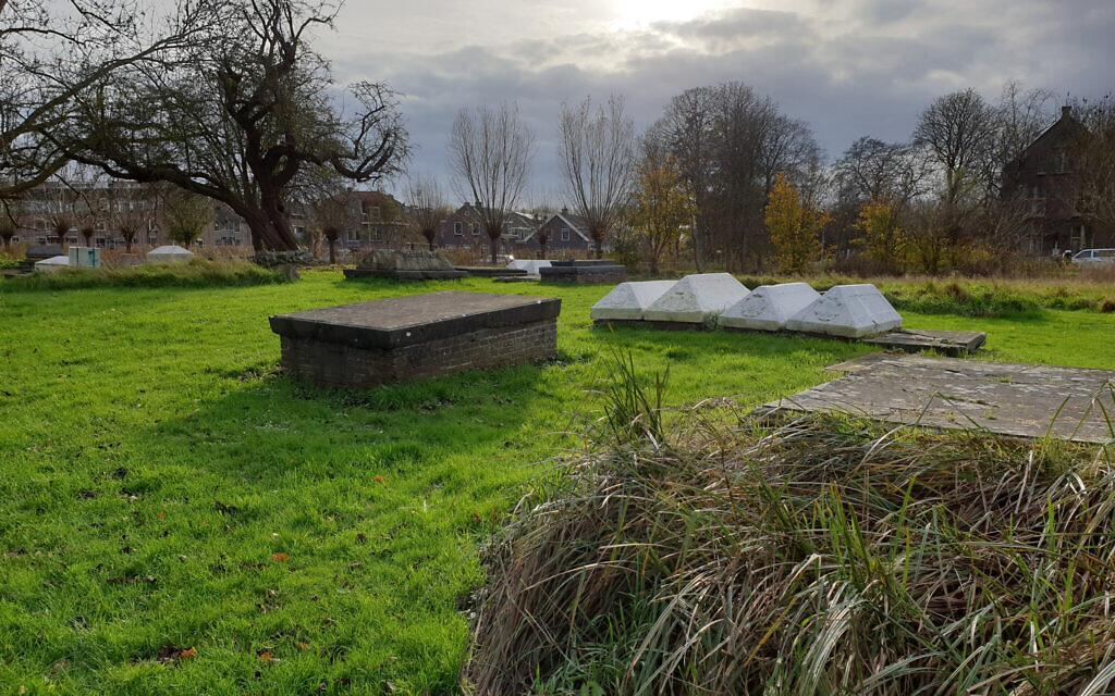 The Jewish cemetery in Ouderkerk aan de Amstel, the Netherlands, November 20, 2020. (Cnaan Liphshiz/ JTA)