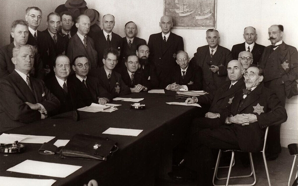 The Jewish Council of Amsterdam was a body set up by the Nazis to have Jews oversee preparations for the extermination of their own minority throughout the Netherlands during World War II. (Courtesy of the Jewish Cultural Quarter of Amsterdam/ via JTA)