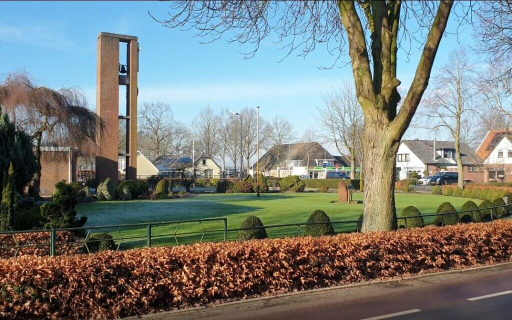 Church bells toll at Nieuwlande, the Netherlands on January 25, 2021. (Cnaan Liphshiz/ JTA)