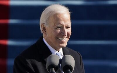 US President Joe Biden speaks during his on the West Front of the US.Capitol on January 20, 2021 in Washington, DC. (Pool/Getty Images/AFP)