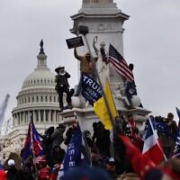 Trump supporters gather outside the US Capitol building, January 6, 2021 in Washington, DC. (Spencer Platt/Getty Images/AFP)