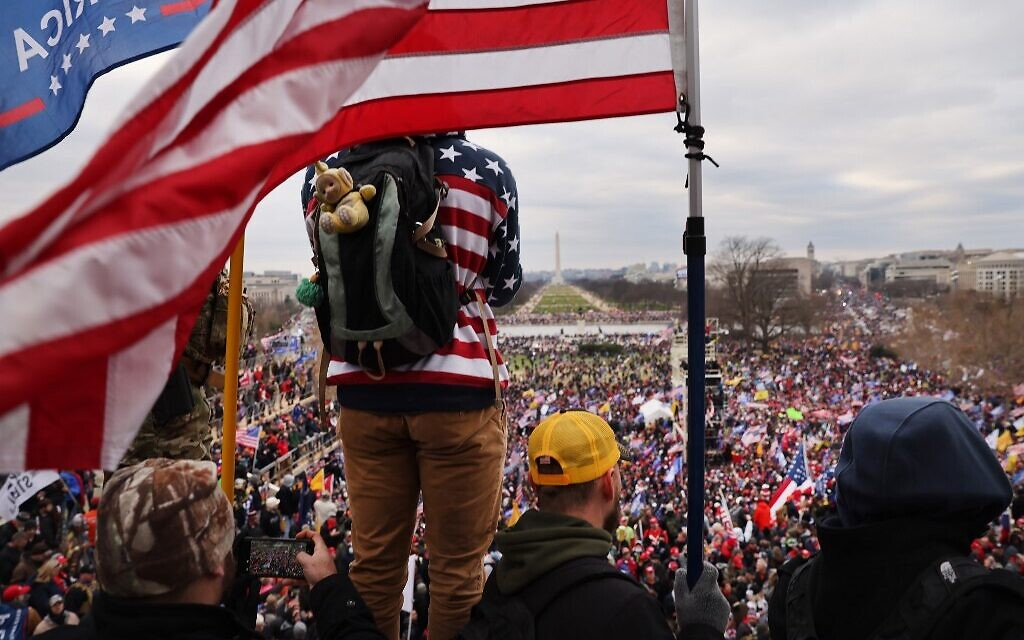Trump supporters gather outside the US Capitol building following a 'Stop the Steal' rally on January 6, 2021 in Washington, DC (Spencer Platt/Getty Images/AFP)