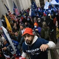 A pro-Trump mob breaks into the US Capitol on January 6, 2021 in Washington, DC. (Win McNamee/Getty Images/AFP