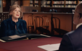 Screen capture from video of NPR correspondent Nina Totenberg in an episode of PBS' 'Finding Your Roots.' (JTA)