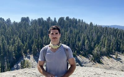 Tobin Mitnick really loves trees, and wants you to, too. (Courtesy of Mitnick/ via JTA)