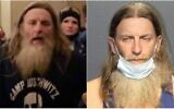 Robert Keith Packer seen during the storming of the Capitol on January 6, 2020 (L) and in custody in Virginia, January 13, 2013. (Screen capture: Twitter/Western Tidewater Regional Jail)