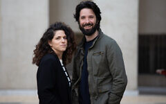 'Rehearsals' co-creators Noa Koler, left and Erez Drigues, who also play the lead roles on the show (Courtesy Vered Adir)