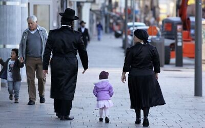 Illustrative photo of ultra-Orthodox Jews in Antwerp, Belgium. (Alexander Stein/ullstein bild via Getty Images/JTA)