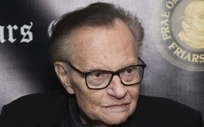 Larry King attends the Friars Club Entertainment Icon Award ceremony honoring Billy Crystal at the Ziegfeld Ballroom in New York, November 12, 2018. (Charles Sykes/Invision/AP)