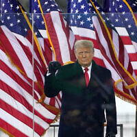 US President Donald Trump arrives to speak at a rally, Jan. 6, 2021, in Washington. (AP Photo/Jacquelyn Martin)