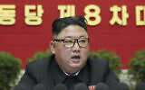 In this photo provided by the North Korean government, North Korean leader Kim Jong Un speaks at the ruling party congress in Pyongyang, North Korean, Friday, Jan. 8, 2021. (Korean Central News Agency/Korea News Service via AP)
