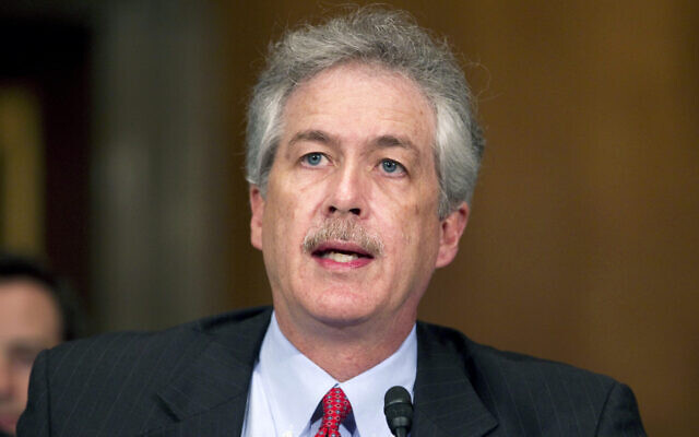 William Burns testifies before the US Senate Foreign Relations Committee on Capitol Hill in Washington, May 24, 2011. (AP Photo/Evan Vucci, File)
