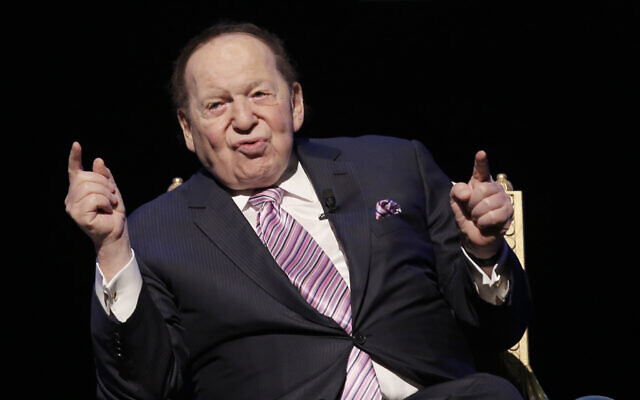 US billionaire Sheldon Adelson speaks during a news conference for the opening of Parisian Macao in Macau, September 13, 2016.  (Kin Cheung/AP)