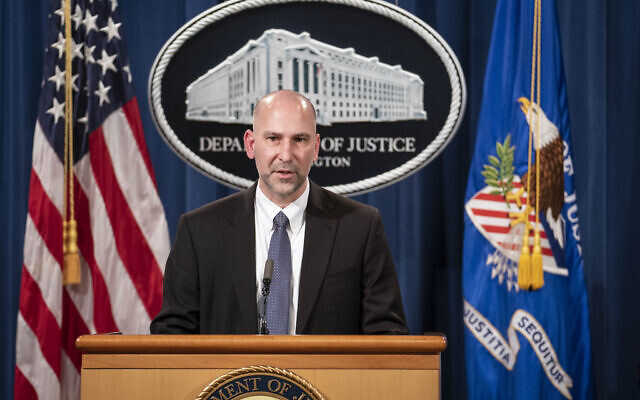 "Steven D'Antuono, head of the Federal Bureau of Investigation (FBI) Washington field office, speaks during a news conference Tuesday, Jan. 12, 2021, in Washington. Federal prosecutors are looking at bringing ""significant"" cases involving possible sedition and conspiracy charges in last week's riot at the US Capitol. (Sarah Silbiger/Pool via AP)"