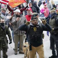 Trump supporters gather outside the Capitol in Washington, January 6, 2021. (AP Photo/Manuel Balce Ceneta, File)