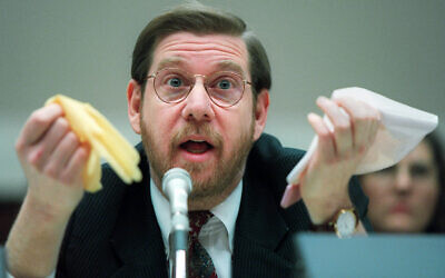 This Nov. 15, 1995 file photo shows then Food and Drug Administration (FDA) Administrator David Kessler testifying on Capitol Hill in Washington. (AP Photo/Denis Paquin)