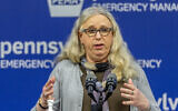 Pennsylvania Secretary of Health Dr. Rachel Levine meets with the media at the Pennsylvania Emergency Management Agency (PEMA) headquarters in Harrisburg, Pennsylvania, May 29, 2020. (Joe Hermitt/The Patriot-News via AP, File)