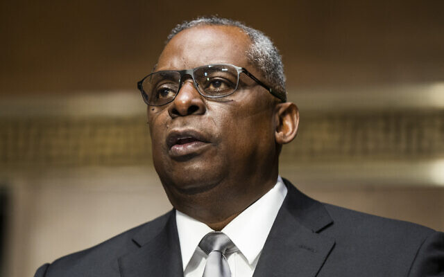 Secretary of Defense nominee Lloyd Austin, a recently retired US Army general, speaks during his conformation hearing before the Senate Armed Services Committee on Capitol Hill, Jan. 19, 2021. (Jim Lo Scalzo/Pool via AP)
