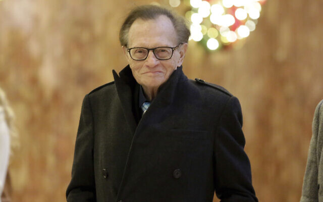 Larry King arrives at Trump Tower, in New York, Thursday, Dec. 1, 2016. (AP Photo/Richard Drew)