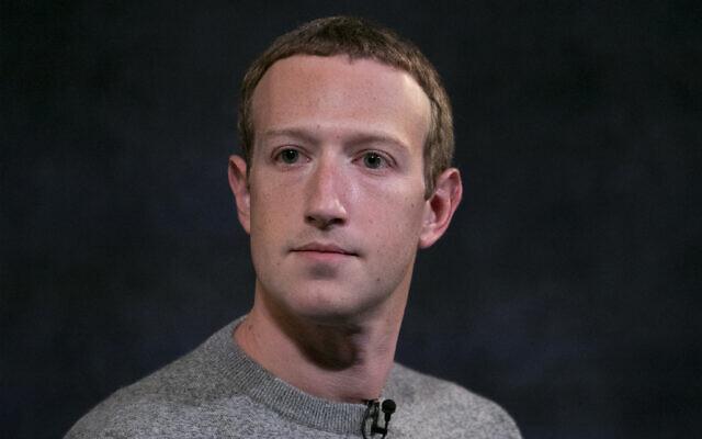Facebook CEO Mark Zuckerberg speaks in New York, October 25, 2019. (AP/Mark Lennihan)