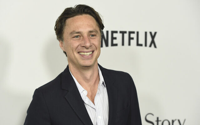Zach Braff arrives at the Los Angeles premiere of 'Marriage Story' at the Directors Guild of America Theater on Tuesday, Nov. 5, 2019. (Chris Pizzello/Invision/AP)