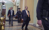 House impeachment manager Rep. Jerry Nadler, walks out of the Senate chamber after the first impeachment trial of President Donald Trump ended for the day at the US Capitol, January 24, 2020, in Washington. (AP Photo/Steve Helber)