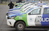 Illustrative: Police cars on the outskirts of Buenos Aires, Argentina, September 9, 2020. (AP Photo/Natacha Pisarenko)