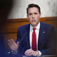 Illustrative: Sen. Josh Hawley, R-Mo., talks during the confirmation hearing for Supreme Court nominee Amy Coney Barrett before the Senate Judiciary Committee, Wednesday, October 14, 2020, on Capitol Hill in Washington. (AP Photo/Patrick Semansky, Pool)