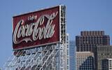 A Coca-Cola sign is shown in San Francisco, October 27, 2020. (Jeff Chiu/AP)