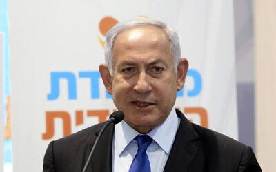Prime Minister Benjamin Netanyahu in Jerusalem, Wednesday, January 6, 2021. (Marc Israel Sellem/Pool via AP)