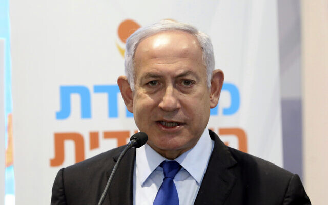Prime Minister Benjamin Netanyahu in Jerusalem, Wednesday, January 6, 2021. (Marc Israel Sellem/Pool via AP)