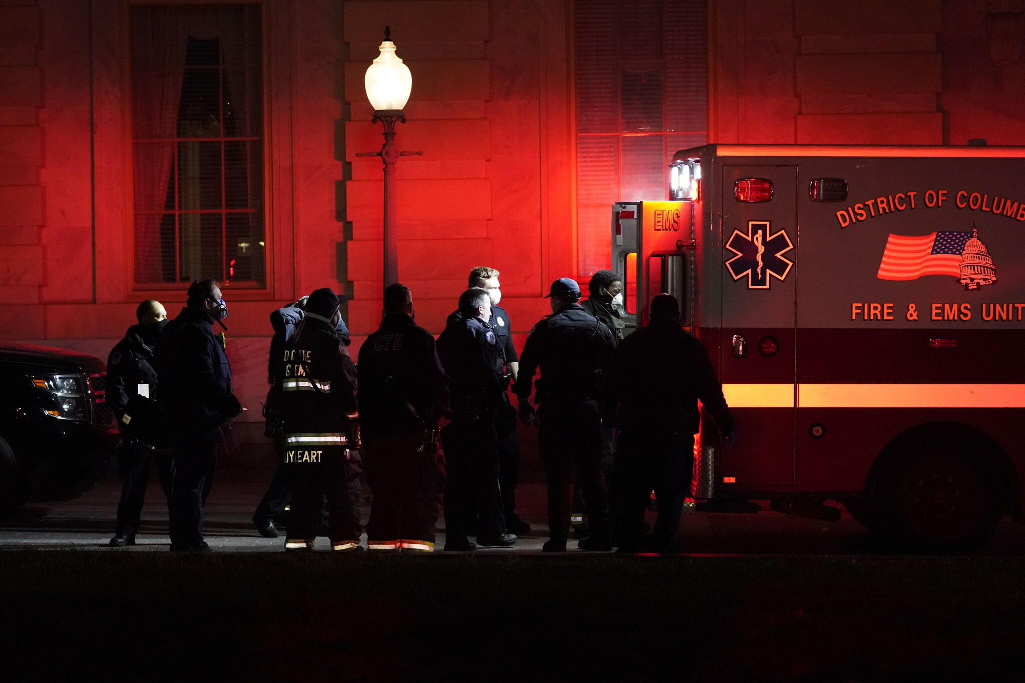 Capitol police officer dies after clash with rioters, officials say