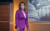Speaker of the House Nancy Pelosi, D-Calif., holds a news conference on the day after violent protesters loyal to President Donald Trump stormed the US Congress, at the Capitol in Washington, Thursday, Jan. 7, 2021. (AP Photo/J. Scott Applewhite)