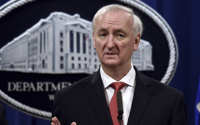 In this Sept. 22, 2020 file photo, then Deputy Attorney General Jeffrey Rosen speaks during a press conference at the Department of Justice in Washington (Olivier Douliery/Pool via AP)