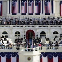 US President Joe Biden delivers his inaugural address during the 59th Presidential Inauguration at the US Capitol in Washington, January 20, 2021. (AP Photo/Patrick Semansky, Pool)